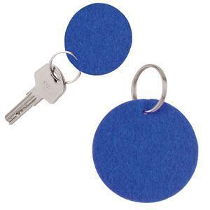 "Брелок ""Round felt"", синий, 5,3х0,2см, фетр"