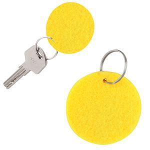 """Брелок """"Round felt"""", желтый, 5,3х0,2см, фетр"""