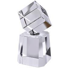 """Стела """"Cubism"""" в подарочной упаковке; 6х7х13 см; стекло; лазерная гравировка"""
