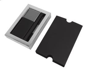 Набор подарочный BLACK GUN: универсальное зарядное устройство(8000мАh) и ручка; серый
