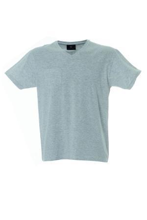 CUBA футболка V-вырез серый меланж, размер S