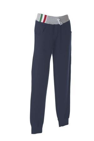 PALERMO Штаны Италия темно-синий/серый меланж, размер M