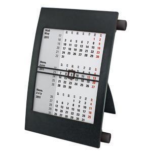 Календарь настольный на 2 года; черный; 18х11 см; пластик; тампопечать, шелкография