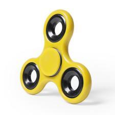 Спиннер Fidget,  платиковый с металлическими элементами, желтый