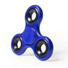 Спиннер Fidget,  пластиковый с металлическими элементами, синий