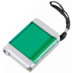 """Рулетка """"4 в 1""""; зеленый с серебристым; 7,8х5,7х1,9 см; пластик; тампопечать"""