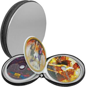 CD-холдер для 24 дисков; серебристый; D=15,3 см; H=2,7 см; металл; лазерная гравировка