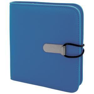 """СD-холдер """"UNION"""" для 24 дисков; бирюзовый; 15,5х15х2 см; полиэстер; шелкография, лазер. гравировка"""