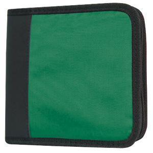 CD-холдер для 12 дисков; зеленый; 15,5х15х3,3 см; текстиль; шелкография