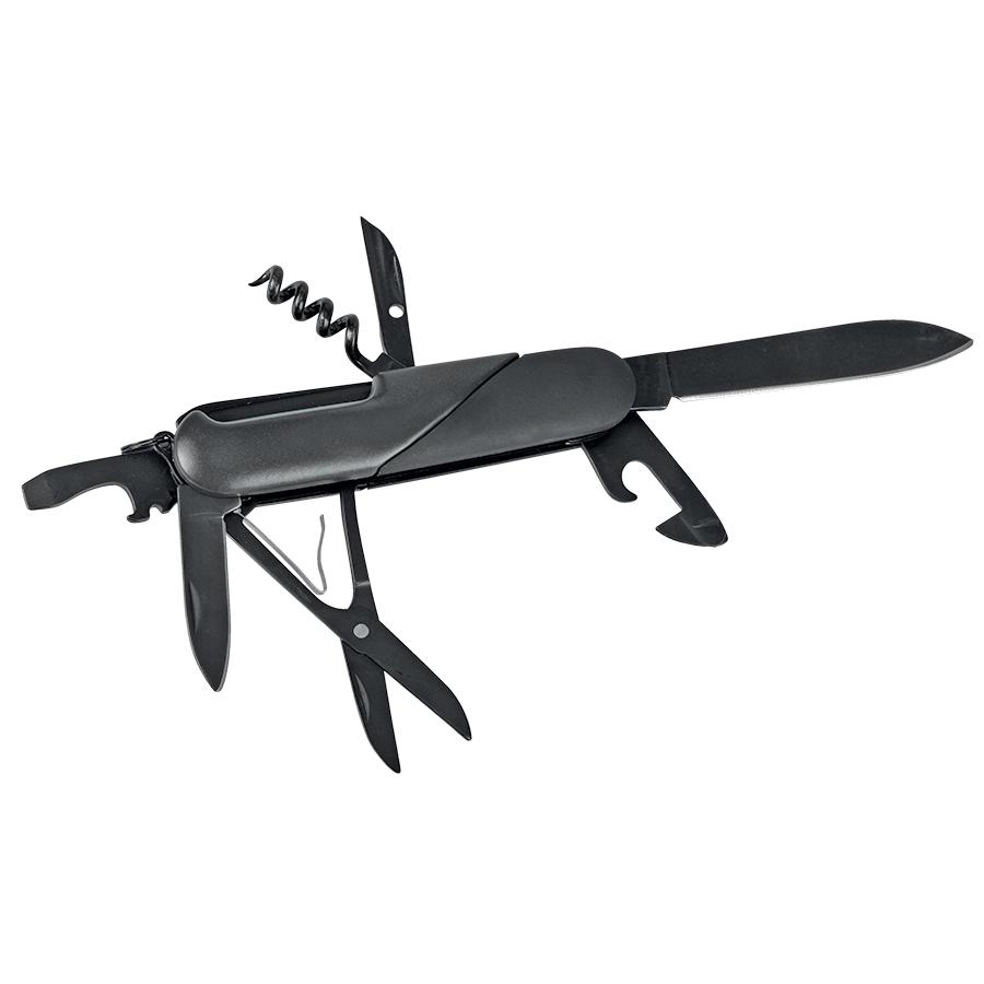 Нож многофункциональный в подарочной упаковке (7 функций); 13,5х9х3,5 см; металл, резина; лазер.грав