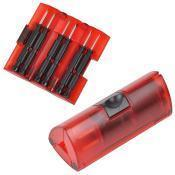 Набор отверток; красный; 9,5х4х4 см; пластик, металл; тампопечать
