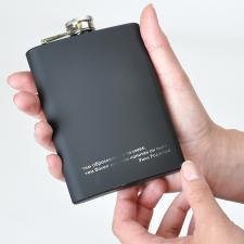 """Фляжка """"BLACK""""; черный; 235 мл; металл, резина; лазерная гравировка"""