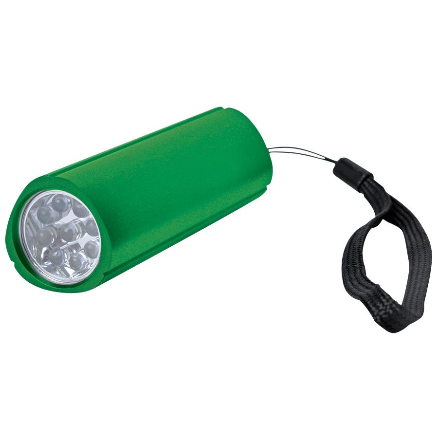 Фонарь треугольный (9 LED); зеленый; 9,7х3 см; металл; лазерная гравировка