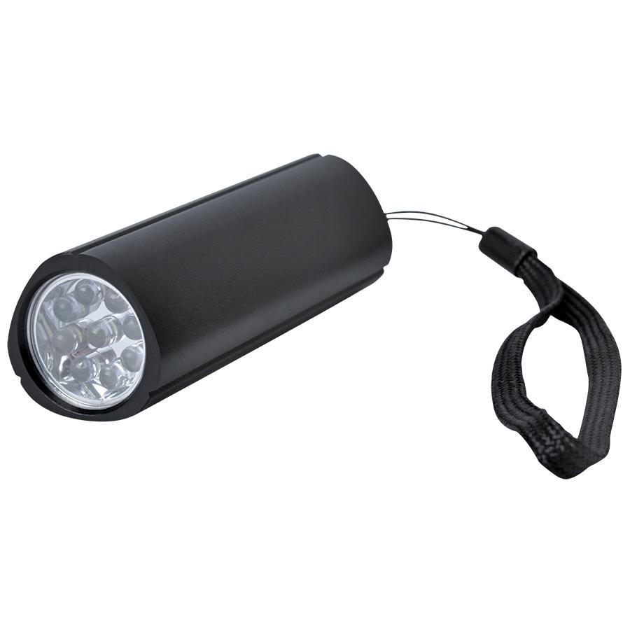Фонарь треугольный (9 LED); черный; 9,7х3 см; металл; лазерная гравировка