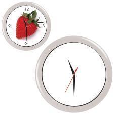"""Часы настенные """"ПРОМО"""" разборные ;  белый, D28,5 см; пластик/стекло"""