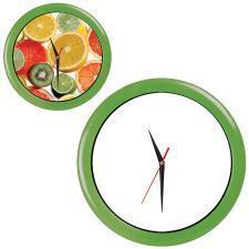 """Часы настенные """"ПРОМО"""" разборные ; зеленый яркий,  D28,5 см; пластик/стекло"""
