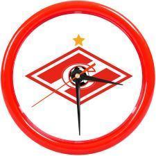 "Часы настенные ""PRINT"" разборные, красный, D24,5 см; пластик"