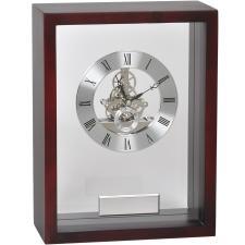 """Часы наградные """"Скелетон"""" с шильдом;   21х28 см, дерево/металл/стекло; лазерная гравировка"""