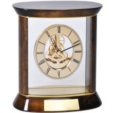 """Часы наградные """"ПРЕМИУМ"""" с шильдом;   19,5х20 см, дерево/металл/стекло; лазерная гравировка"""