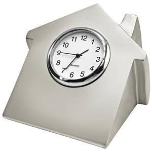 "Часы ""Домик""; 7х6,6х5,2 см; металл; лазерная гравировка"