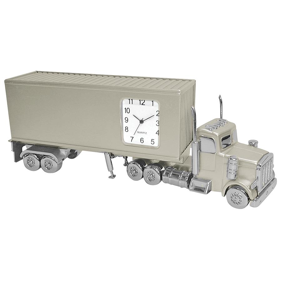 """Часы """"Трейлер""""; 15х3,5х5,2 см; металл; лазерная гравировка"""