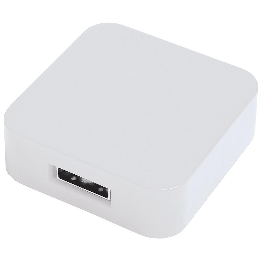 "USB flash-карта ""Akor"" (8Гб),белая, 4х4х1,3см,пластик"