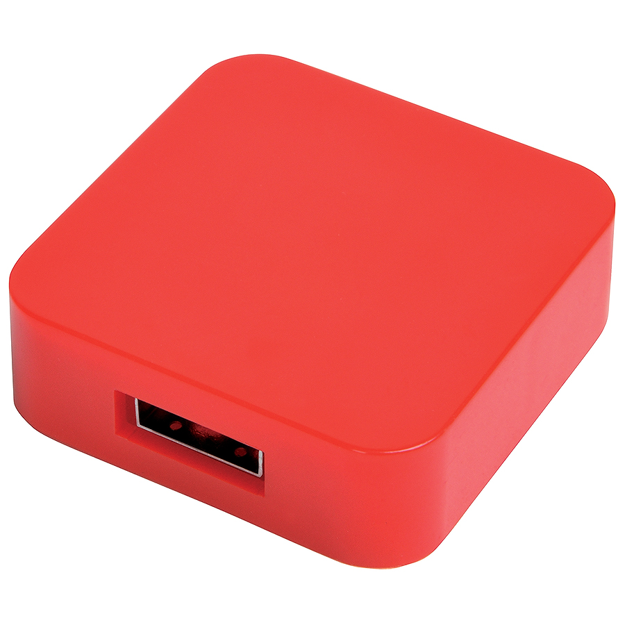 "USB flash-карта ""Akor"" (8Гб),красная, 4х4х1,3см,пластик"