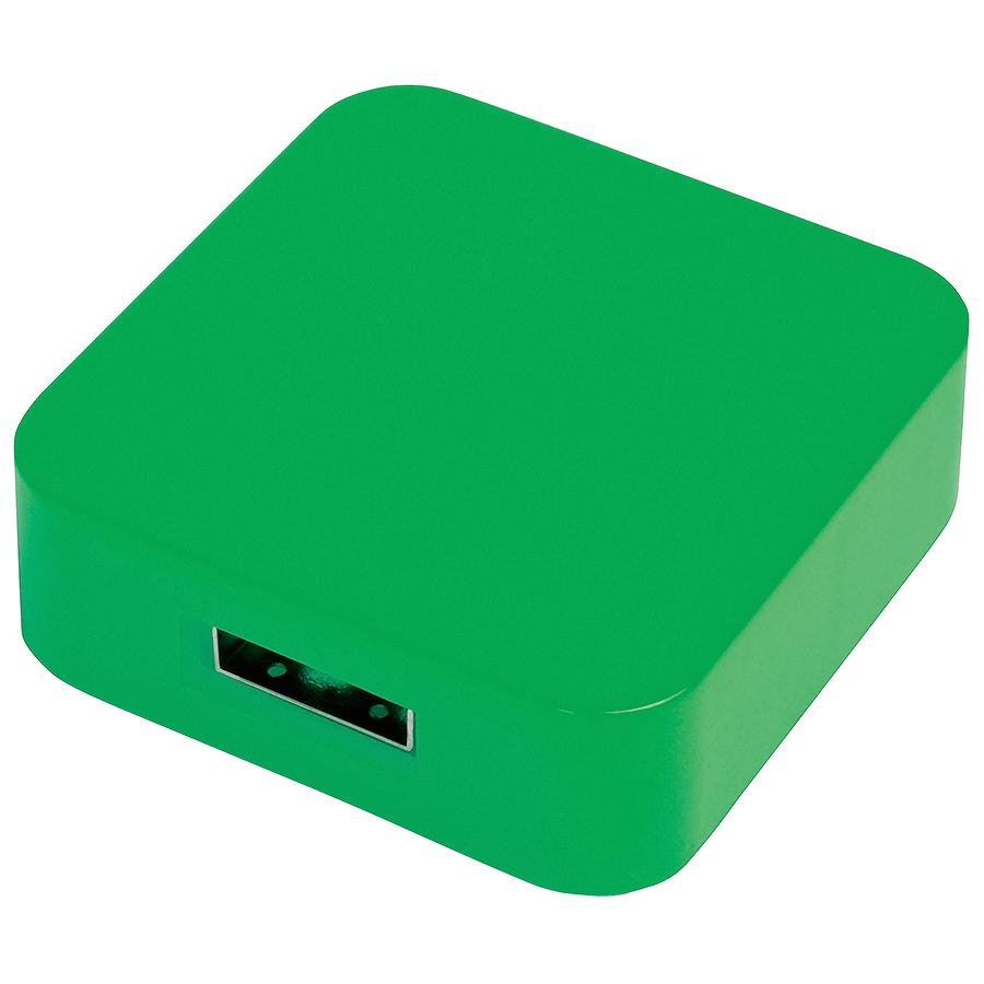 "USB flash-карта ""Akor"" (8Гб),зеленая, 4х4х1,3см,пластик"