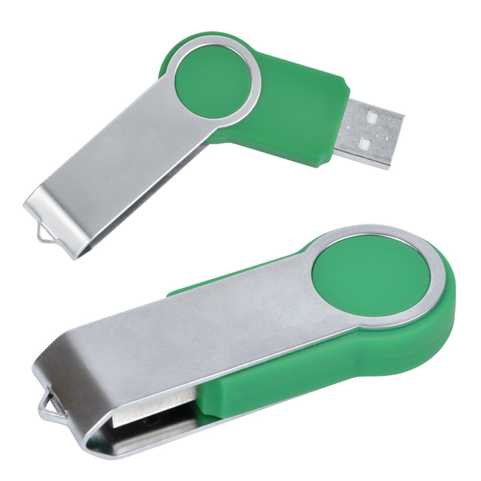 "USB flash-карта ""Swing"" (8Гб),зеленая,6х2,3х1см,металл,пластик"