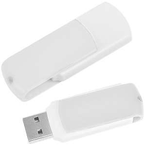 "USB flash-карта ""Easy"" (8Гб),белая, 5,7х1,9х1см,пластик"