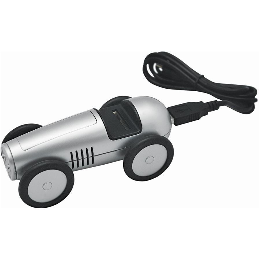 "USB-разветвитель ""Машинка"" с картридером для карт SD/MMC; 11,5х5,5х5 см; пластик; тампопечать"