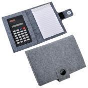 "Блокнот с калькулятором ""Soft"",серый,11х14х2см, фетр"