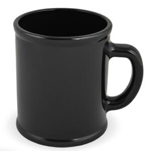 """Кружка """"Радуга""""; черная, D=7,9см, H=9,6см, 300мл; пластик; тампопечать"""