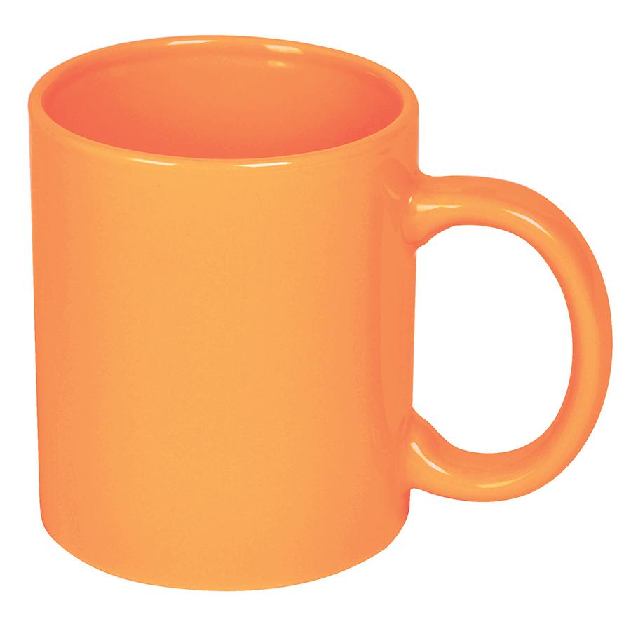 Кружка; оранжевый; 300 мл; керамика; деколь