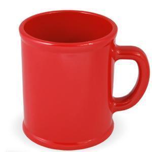 """Кружка """"Радуга""""; красная, D=7,9см, H=9,6см, 300мл; пластик; тампопечать"""