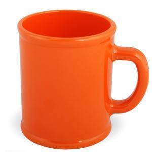 """Кружка """"Радуга""""; оранжевая, D=7,9см, H=9,6см, 300мл; пластик; тампопечать"""