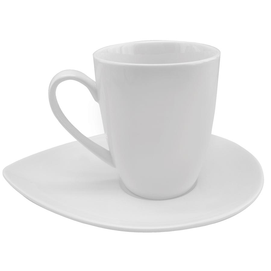 """Чайная пара """"Лепесток""""; 180 мл; фарфор; деколь"""
