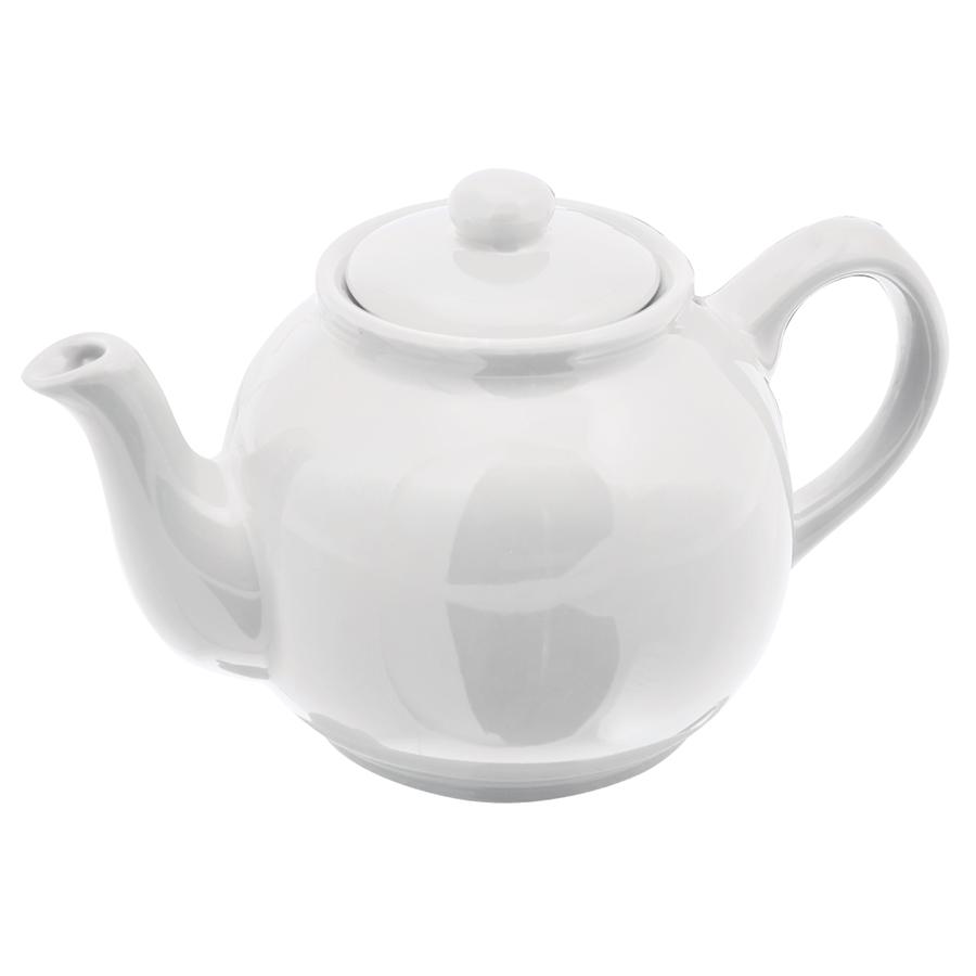 """Чайник """"Лондон""""; 17х10,5х10,2см, 400мл; фаянс; белый"""