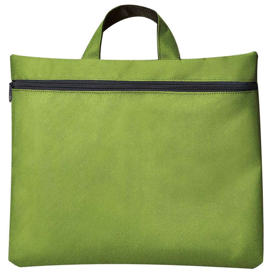 """Сумка для документов """"Paper""""; зеленый; 40х30 см;полиэстер; шелкография"""