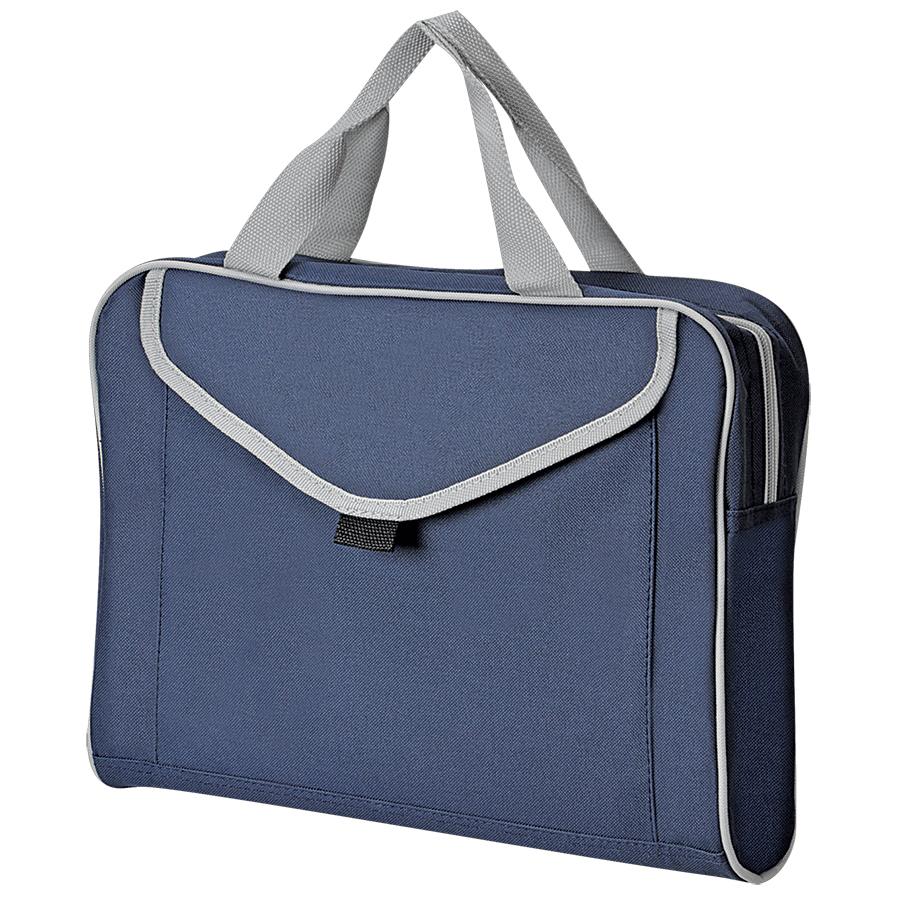 """Конференц-сумка """"Mail""""; синий; 35х30x8 см; полиэстер; шелкография"""