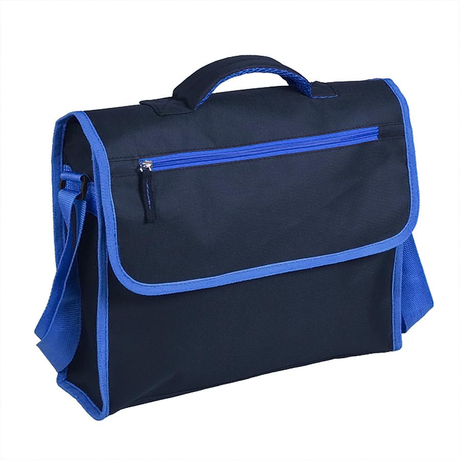 "Конференц-сумка ""ACTIVE"" с карманом на молнии,  синий, 37х28х10 см, полиестер,  шелкография"