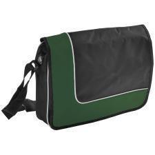 """Конференц-сумка """"Oxford""""; черный с зеленым; 38х27х8 см; полиэстер; шелкография"""