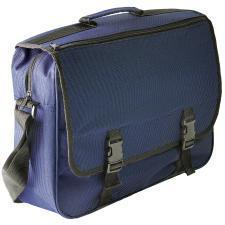 """Конференц-сумка """"London""""; синий; 39х27х10 см; полиэстер; шелкография"""