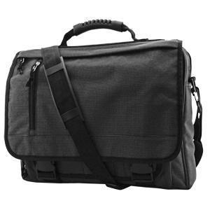 """Конференц-сумка с отделением для ноутбука """"Portfolio""""; серый; 39,5х30х7 см; нейлон; шелкография"""