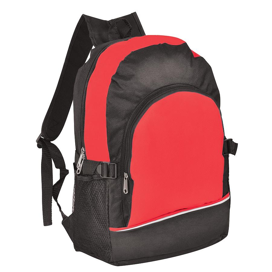 Рюкзак. красный с чёрным, 30х42х13, Полиэстер 600D+1680D, шелкография