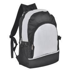 Рюкзак. серый с чёрным, 30х42х13, Полиэстер 600D+1680D, шелкография