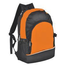 Рюкзак. оранжевый с чёрным, 30х42х13, Полиэстер 600D+1680D, шелкография