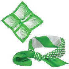 """Платок """"Ufficio"""", шелк 100%,  зеленый,  53x53 см"""