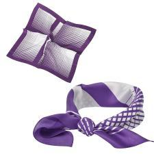 "Платок ""Ufficio"", шелк 100%, фиолетовый, 53x53 см"