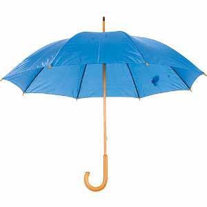 Зонт-трость механический, нейлон, D=105, ярко-синий